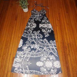 Express Tribal Halter Maxi Dress Boho Ombre Preppy